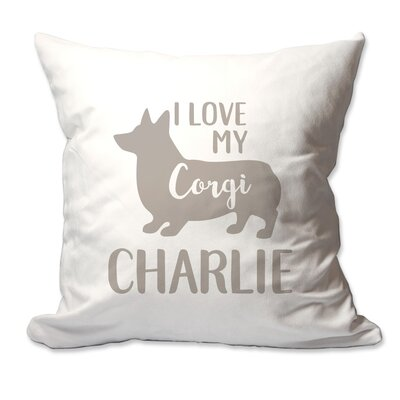 Personalized I Love My Corgi Throw Pillow