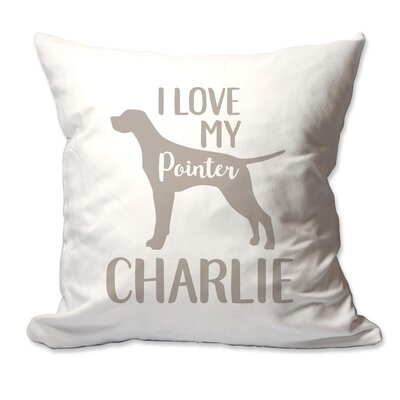 Personalized I Love My English Pointer Throw Pillow