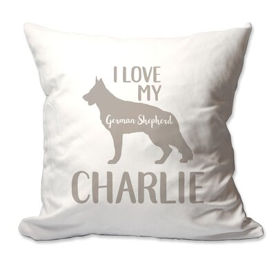 Personalized I Love My German Shepherd Throw Pillow