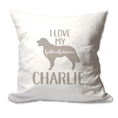 Personalized I Love My Golden Retriever Throw Pillow