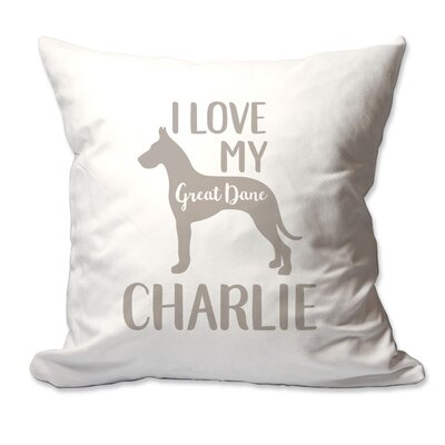 Personalized I Love My Great Dane Throw Pillow