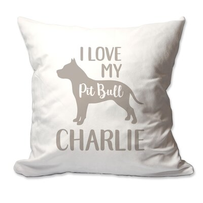 Personalized I Love My Pit Bull Throw Pillow