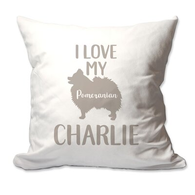 Personalized I Love My Pomeranian Throw Pillow
