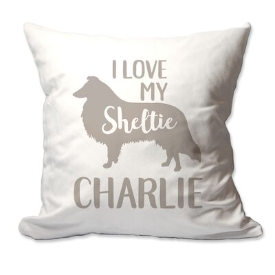Personalized I Love My Sheltie Throw Pillow