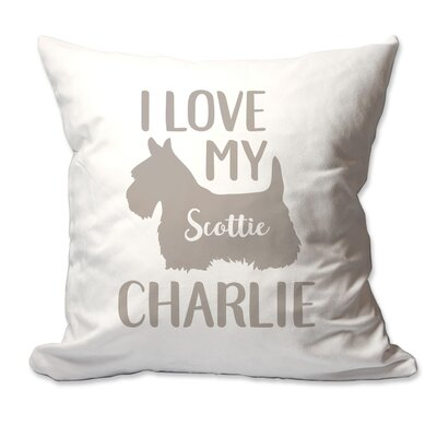 Personalized I Love My Scottish Terrier (Scottie) Throw Pillow