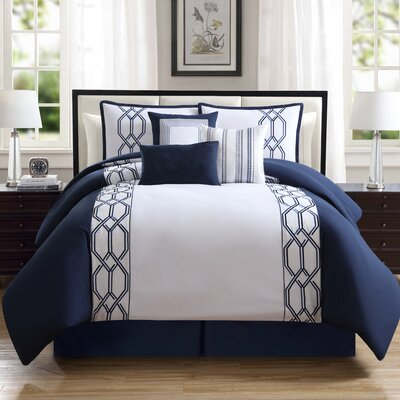 Mailus 7 Piece Comforter Set Size: Queen