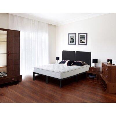 Faux Leather Steel Slat Platform Bed Size: Full