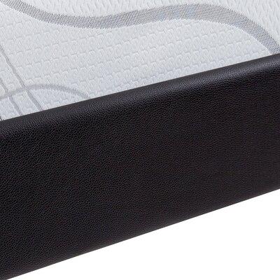 SF-3000 Faux Leather Side Guard Steel Slat Bed Frame Size: Full