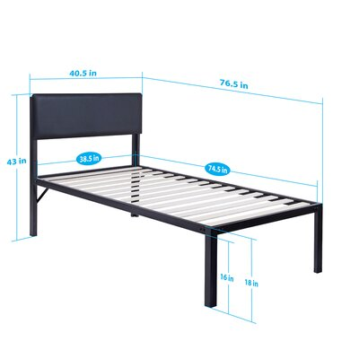 Heavy Duty Platform Bed Mattress Size: Twin