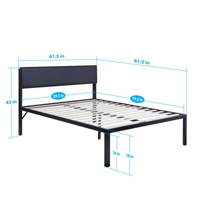 Heavy Duty Platform Bed Mattress Size: Queen