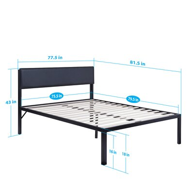 Heavy Duty Platform Bed Mattress Size: King