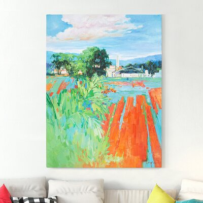 'Summer' Oil Painting Print on Canvas