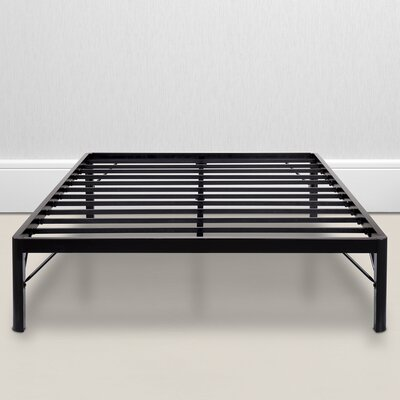 Wilhoit Steel Slat Bed Frame Size: Queen
