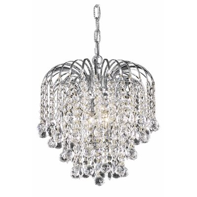 Addison 3-Light Crystal Pendant Finish: Chrome