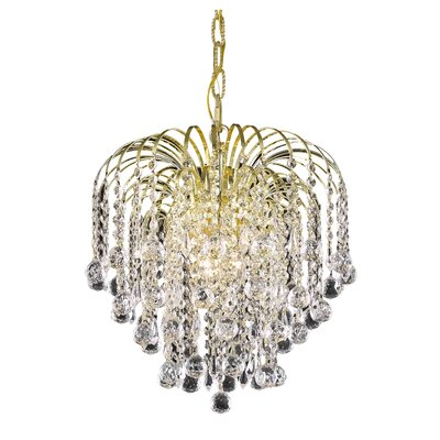 Addison 3-Light Crystal Pendant Finish: Gold