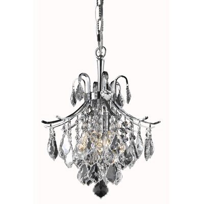 Amelia 3-Light Crystal Pendant Finish: Chrome