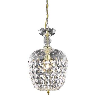 Azalea 1-Light Crystal Pendant Finish: Gold