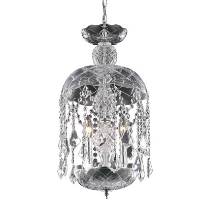 Azalea 3-Light Crystal Pendant Finish: Chrome