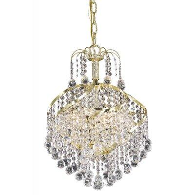 Avery 3-Light Crystal Pendant Finish: Gold