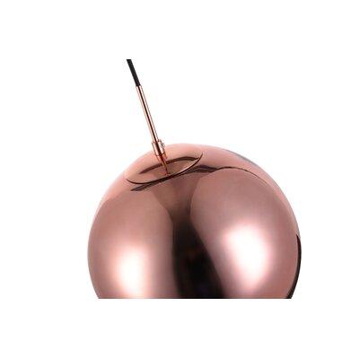 Reflection 1-Light Globe Pendant Size: 72 H x 11.5 W x 11.5 D, Shade Color: Copper