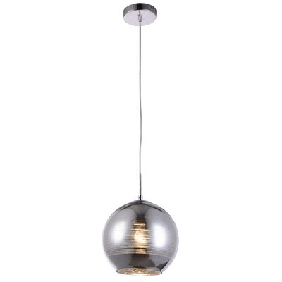 Reflection 1-Light Globe Pendant Finish: Chrome