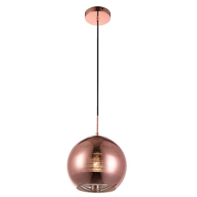 Reflection 1-Light Globe Pendant Finish: Copper