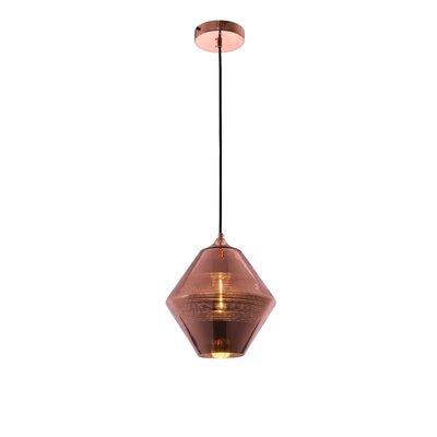 Reflection 1-Light Mini Pendant Finish: Copper