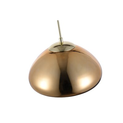 Reflection 1-Light Mini Pendant Shade Color: Gold, Size: 68 H x 11 W x 11 D