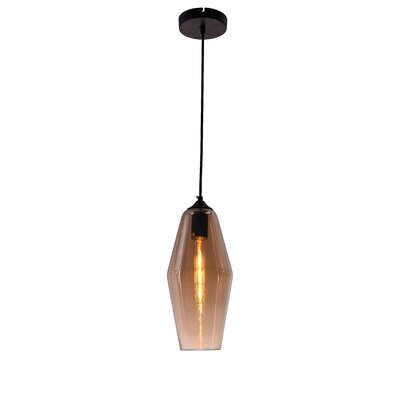 Collins 1-Light Mini Pendant Shade Color: Amber