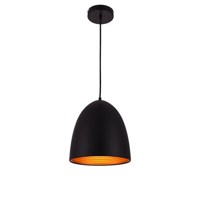 Circa 1-Light Mini Pendant Finish: Black, Size: 71.5 H x 9.5 W x 9.5 D