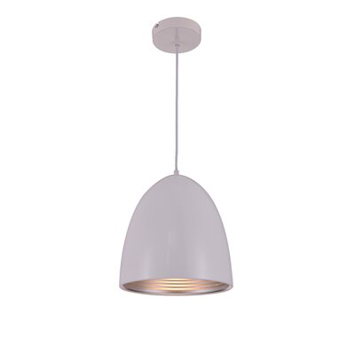 Circa 1-Light Mini Pendant Finish: White, Size: 71.5 H x 9.5 W x 9.5 D