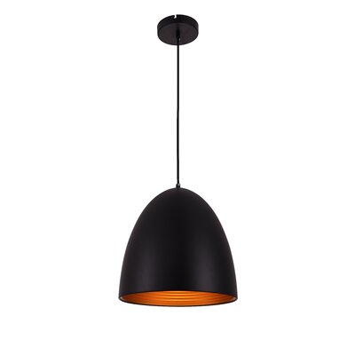 Circa 1-Light Mini Pendant Finish: Black, Size: 73 H x 11.5 W x 11.5 D
