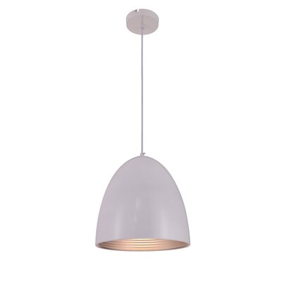 Circa 1-Light Mini Pendant Finish: White, Size: 73 H x 11.5 W x 11.5 D