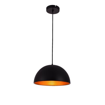 Circa 1-Light Inverted Pendant Finish: Black, Size: 67.5 H x 11.5 W x 11.5 D
