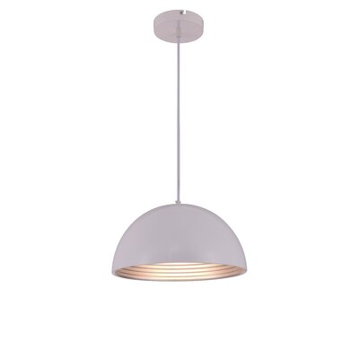 Circa 1-Light Inverted Pendant Finish: White, Size: 69 H x 15.5 W x 15.5 D