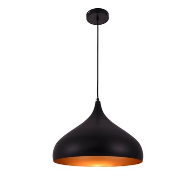 Circa 1-Light Inverted Pendant Size: 73 H x 16.5 W x 16.5 D
