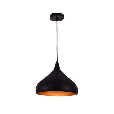 Circa 1-Light Inverted Pendant Size: 71 H x 12.5 W x 12.5 D