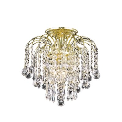 Addison 3-Light Semi Flush Mount Finish: Gold