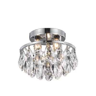 Clara 3-Light Semi Flush Mount Finish: Chrome