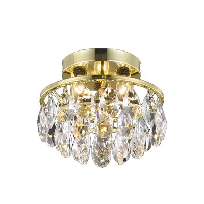 Clara 3-Light Semi Flush Mount Finish: Gold