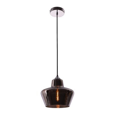 Collins 1-Light Schoolhouse Pendant Shade Color: Smoke