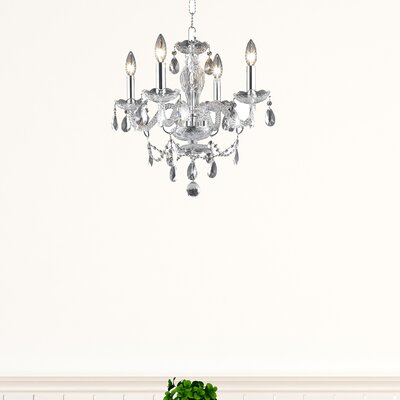 Elle 4-Light Crystal Chandelier Finish: Chrome