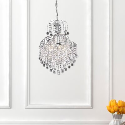 Avery 3-Light Crystal Pendant Finish: Chrome