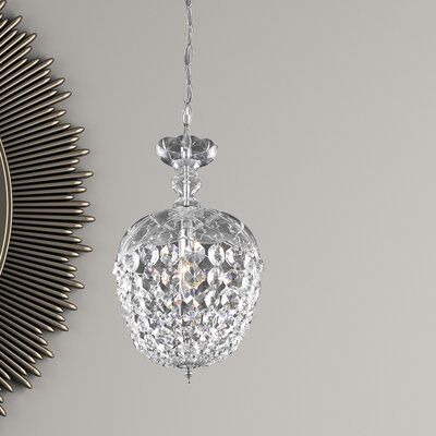 Azalea 1-Light Crystal Pendant Finish: Chrome