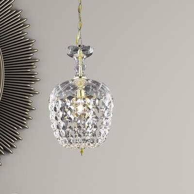 Azalea 1-Light Crystal Pendant Finish: Gold