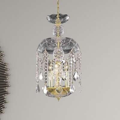 Azalea 3-Light Crystal Pendant Finish: Gold