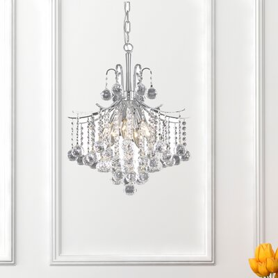 Amelia 6-Light Crystal Pendant Finish: Chrome