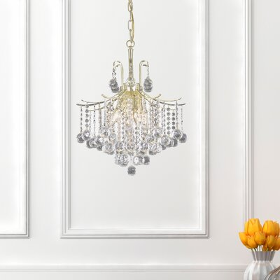 Amelia 6-Light Crystal Pendant Finish: Gold