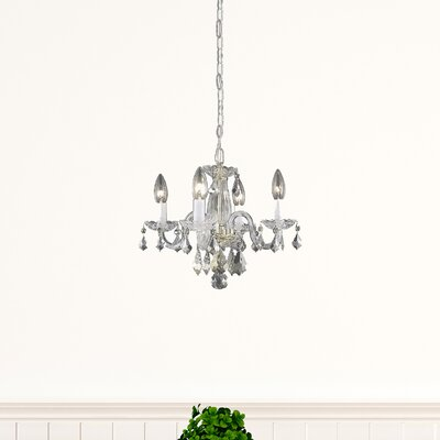 Azalea 4-Light Crystal Chandelier Finish: Gold