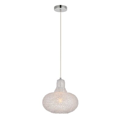 Teegan 1-Light Mini Pendant Color: Chrome/Clear